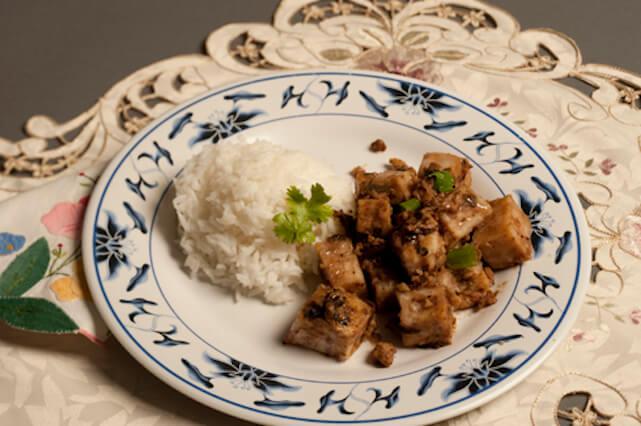 Example of diversity: rice and pork w/ taro