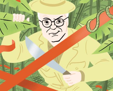 Dick Cheney Illustration by Jack D.