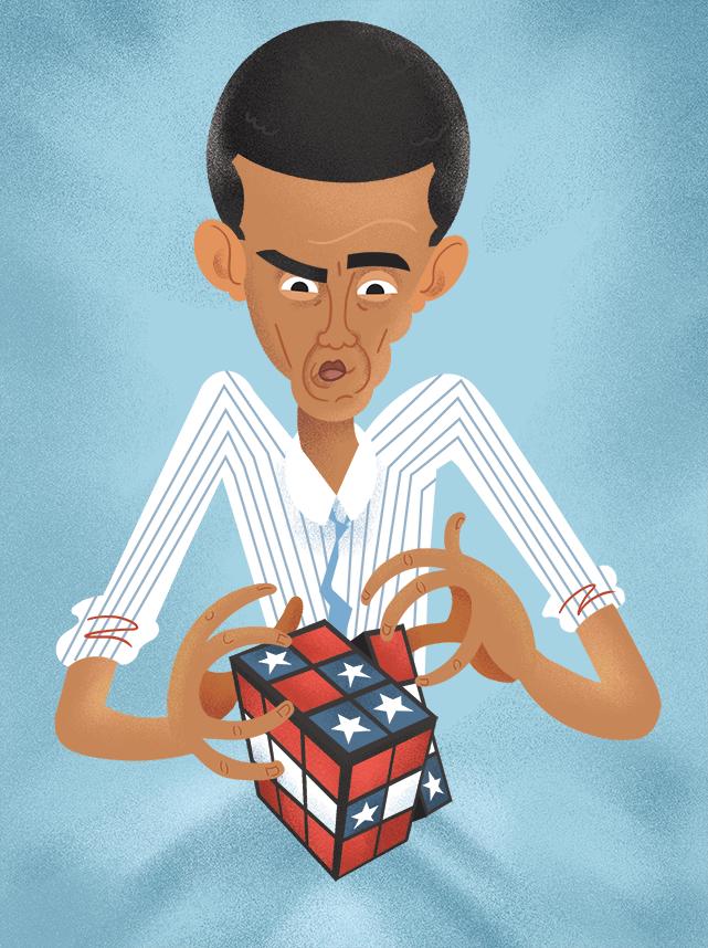 Obama Illustration by Jack D.