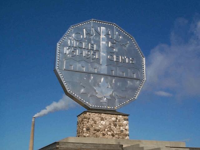 Sudbury's big nickel. Photo by Marcoplo78
