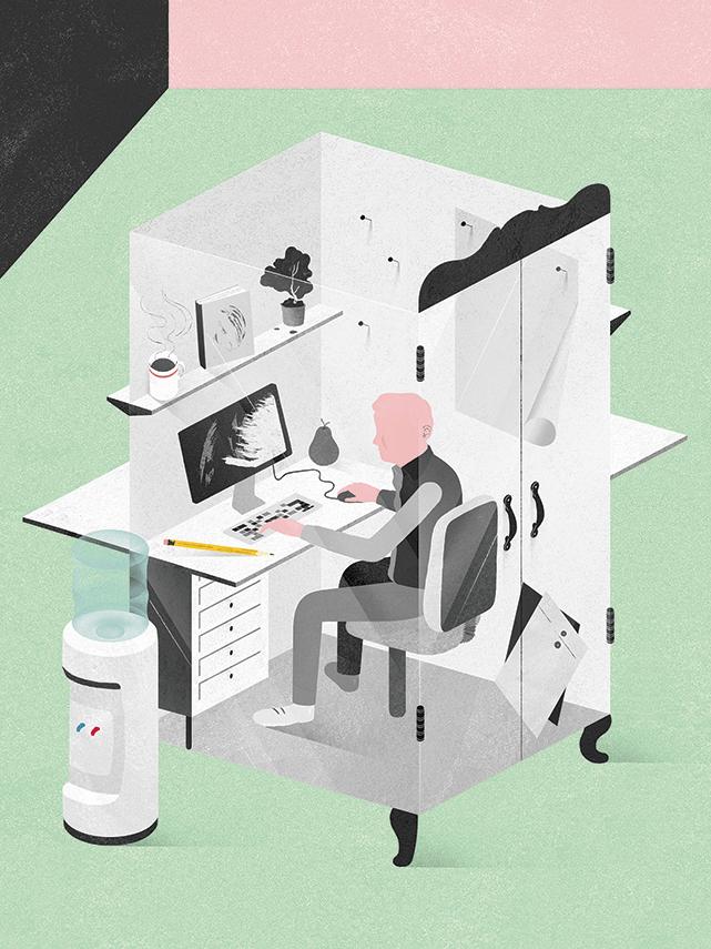Glass Closet Illustration by Gracia Lam