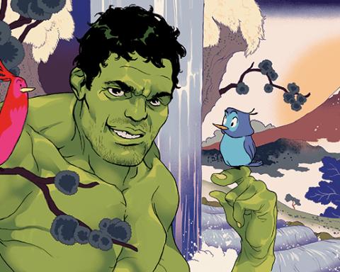 Hulk Illustration by Tomer Hanuka