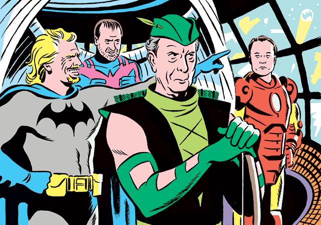superhero Illustration by Kikuo Johnson