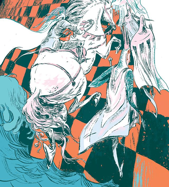 Chess Illustration by Wesley Allsbrook