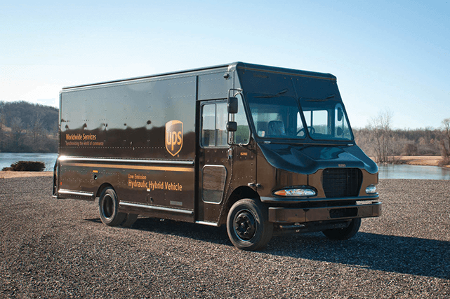 UPS's brown delivery vans are getting greener as new technologies enter the fleet. Photo courtesy of UPS