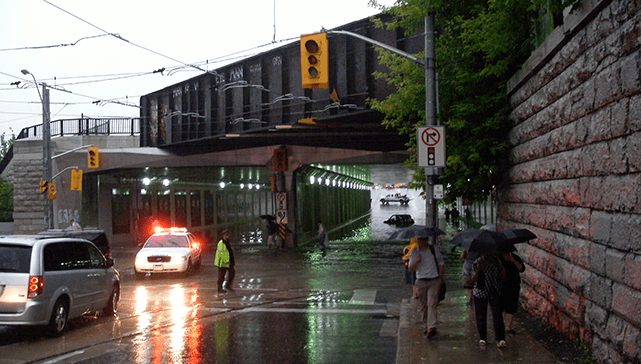 July 2013 Flood in Toronto. Photo by Eastmain
