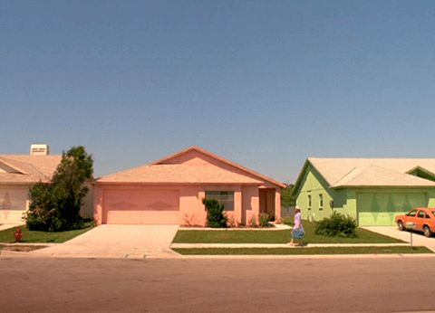 """Depiction of suburbia in the 20th Century Fox feature film """"Edward Scissorhands"""""""