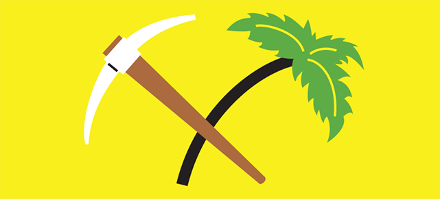 A tree and pickaxe