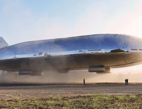 A Buoyant Aircraft Systems MB-150 airship. Photos courtesy of BASI