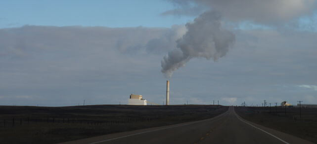 The Sheerness Generating Station, southeast of Hanna, Alberta. Photo by Paul Jerry.