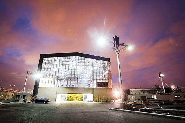LumiSolair LED streetlights at the Brooklyn Navy Yard. Photo courtesy of LumiSolar