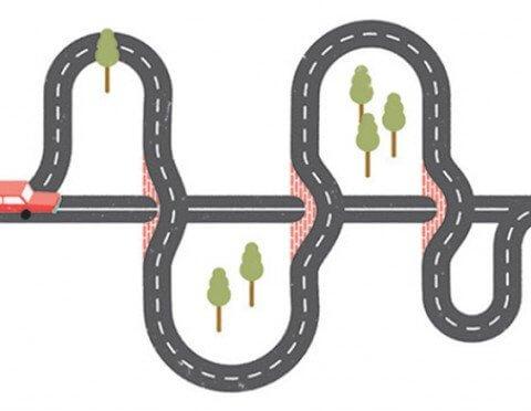 illustration of a road