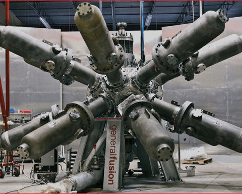 A prototype of a magnetized target fusion reactor being developed by General Fusion of Vancouver
