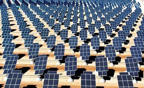 Nellis Solar Power Plant in Nevada, United States