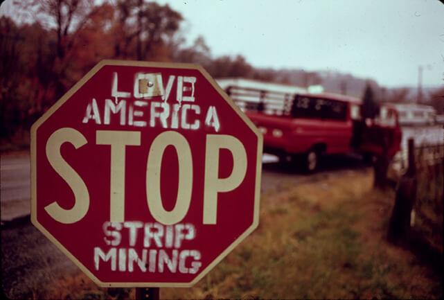 A stop sign in Hendrysburg, Southeastern Ohio.