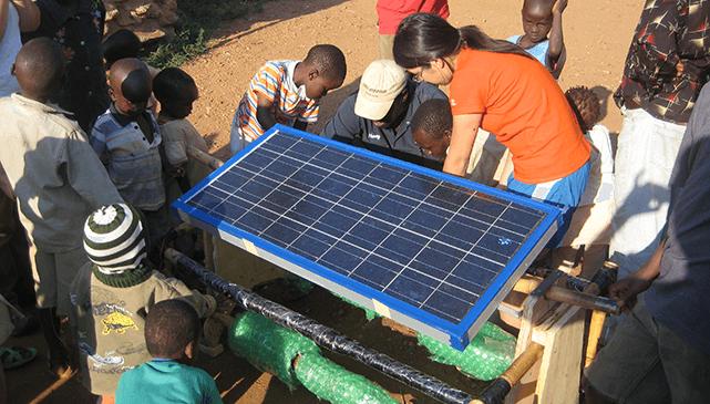 Eden Full with a SunSaluter in Kenya.