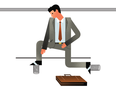 man in suit Illustrations by Dave Murray