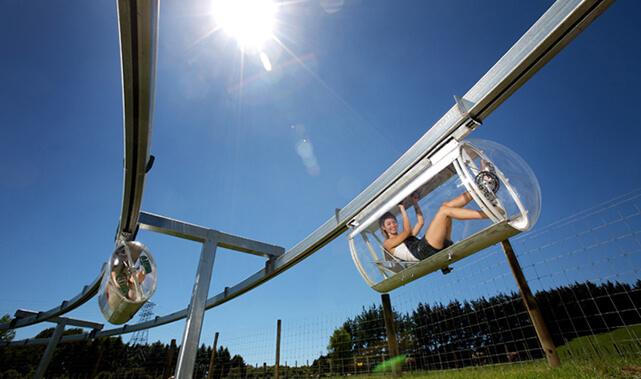 The Shweeb prototype in Rotorua, NZ.