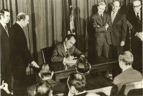 Signing of the Occupational Safety and Health Act. Dec 29, 1970.