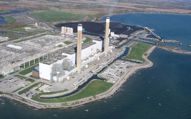Coal-burning Nanticoke Generating Station was decommissioned in 2013 as part of the Government of Ontario's commitment to eliminate coal power.