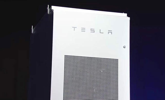 Tesla's utility-scale Powerpack. Photo courtesy of Tesla.