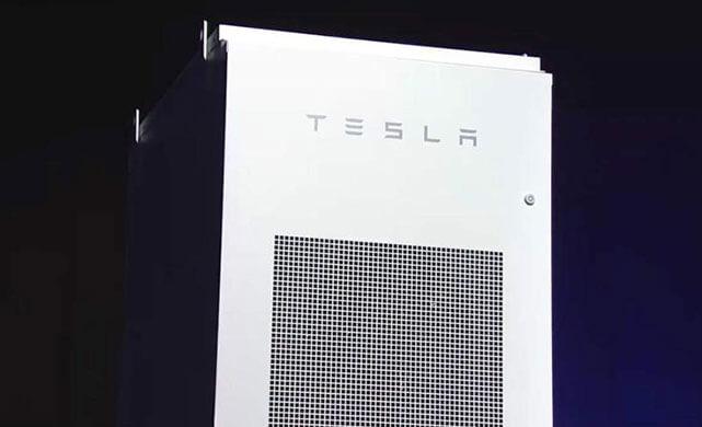 Tesla's utility-scale Powerpack. Photo courtesy of Tesla.