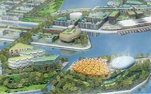 The planned eco city of Dongtan near Shanghai has been shelved for now.