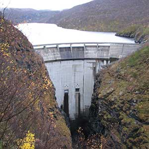 The Alta Dam, one of Norway's 937 hydropower stations.
