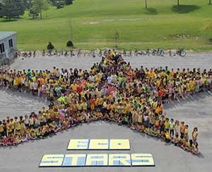 St. Marguerite d'Youville Catholic School celebrates its second EcoSchools platinum designation.