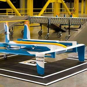 Amazon's latest drone delivery prototype. Photo courtesy Amazon