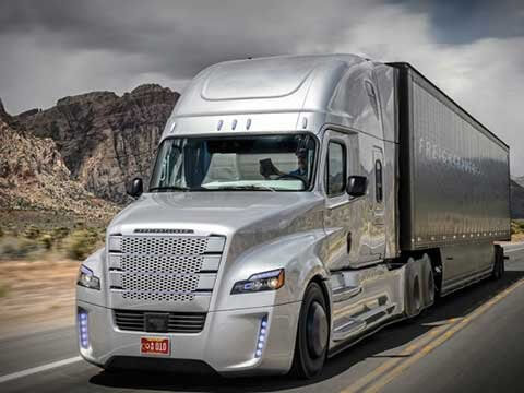 The Daimler Freightliner Inspiration Truck, the first licensed autonomous commercial truck to operate in American highways.