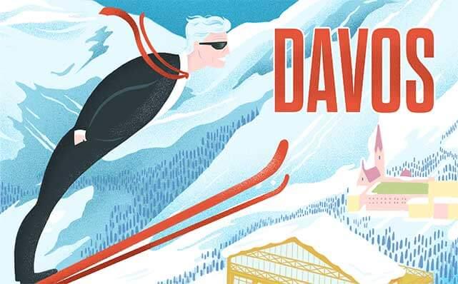 Davos man illustration by Jack D