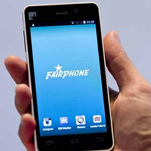 Modular electronics such as this smartphone can reduce e-waste burdens by making it possible to reuse still-functional components when a device goes down. Photo courtesy of Fairphone