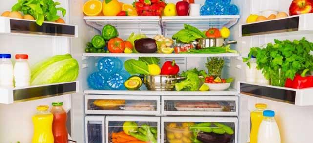 inside of a fridge