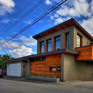 Laneway housing in B.C. Photo by Joe Wolf