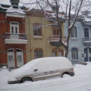 Dense housing in Montreal's Plateau district