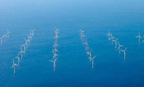 Lillgrund Wind Farm off the coast of Southern Sweden