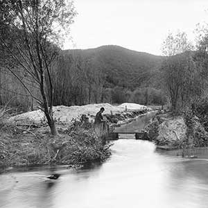 Los Angeles River at Griffith Park, ca.1898-1910. Photo from California Historical Society Collection