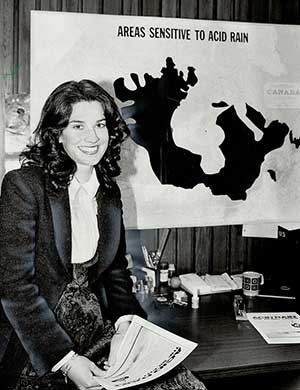 A photo of Adèle Hurley from October 1981 as she worked to set up operations at the CCAR. Photo by Colin McConnell for the Toronto Star