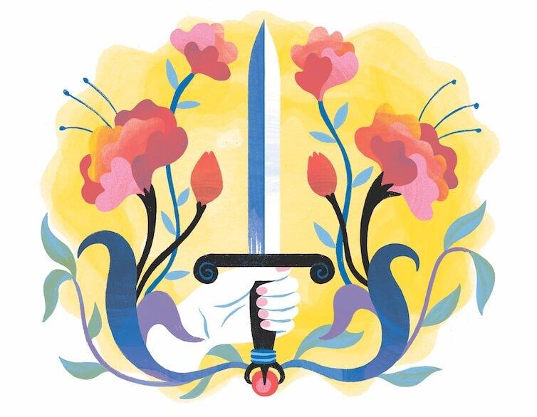Illustration of sword by Kaley McKean
