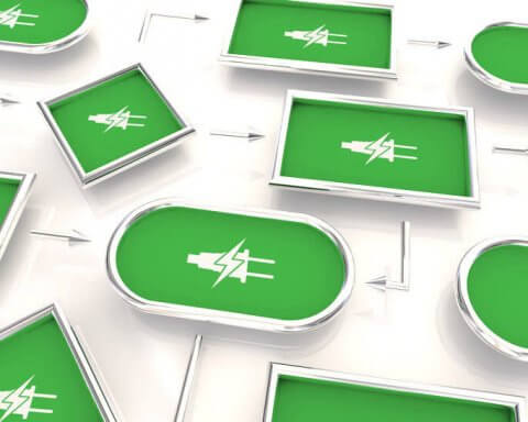 green electricity plug