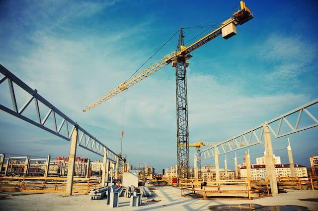 Steel Concrete construction site