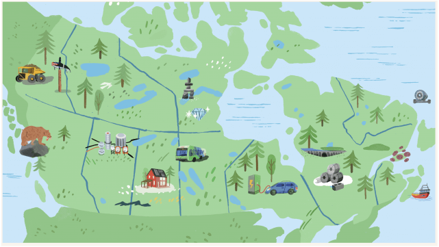canadian map Illustration by Tallulah Fontaine