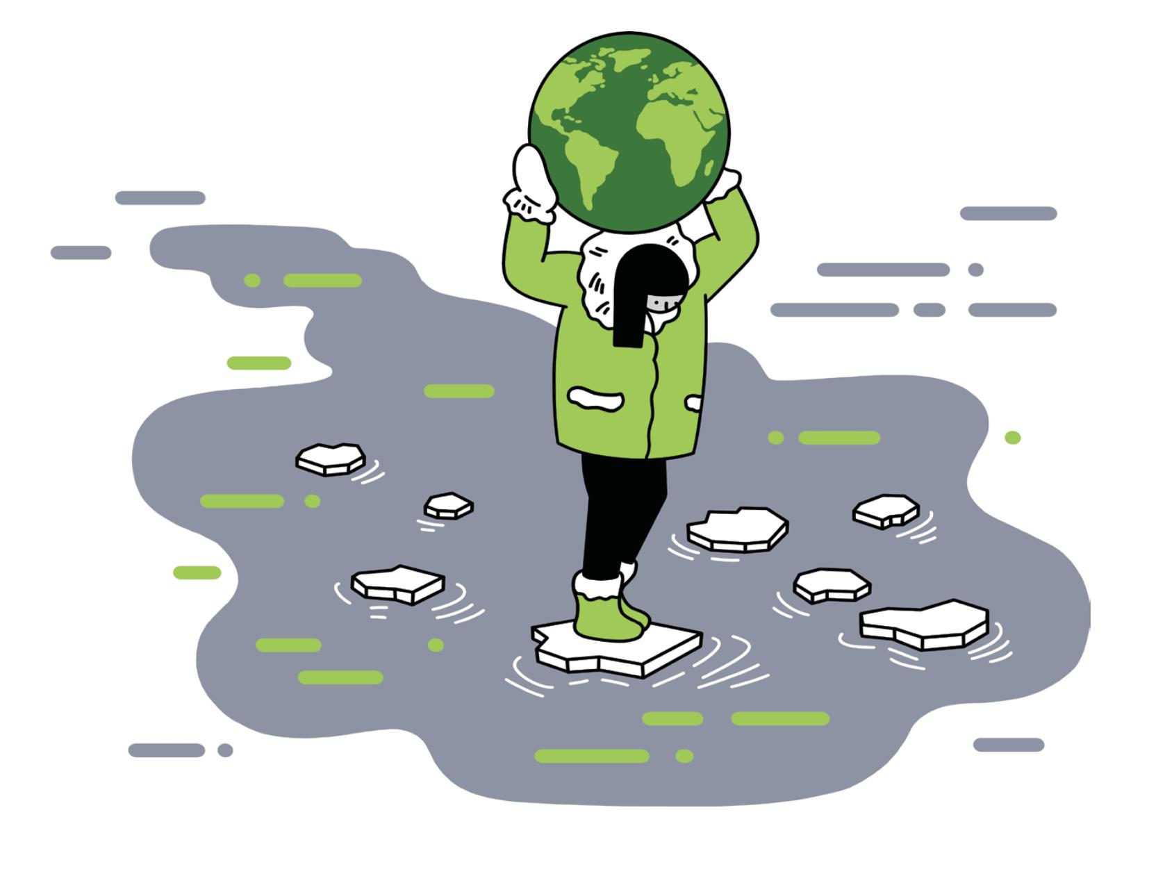 Sheila Watt Cloutier climate illustration by Sam Island