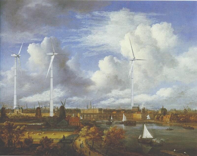 Illustration by Jack Dylan. Amstel Looking Toward Amsterdam by Jacob van Ruisdael