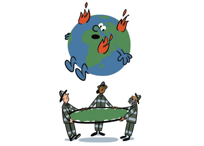 Save the planet Illustration by Kyle Metcalf
